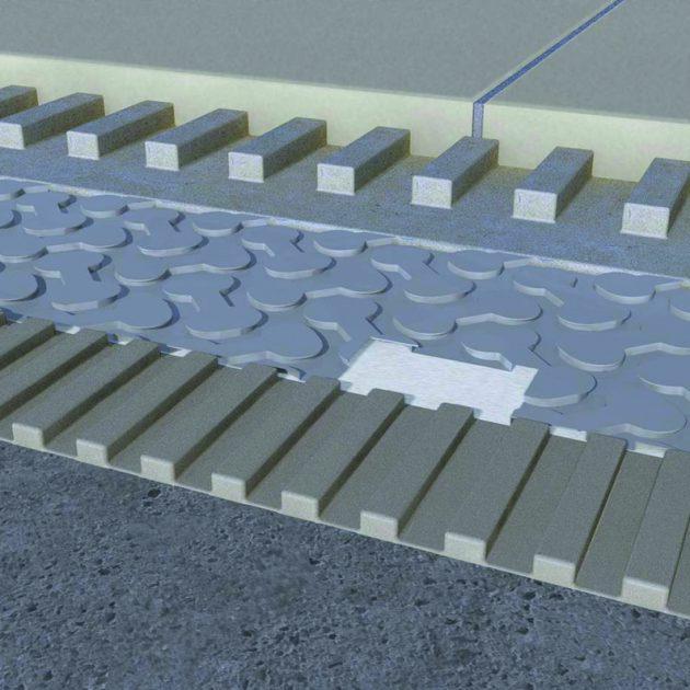 Hidroizolācijas un atdalīšanas membrāna IndorTec FLEXBONE-VA augstas noslodzes vietām un lielformāta flīzēm uz visa veida pamatnēm.