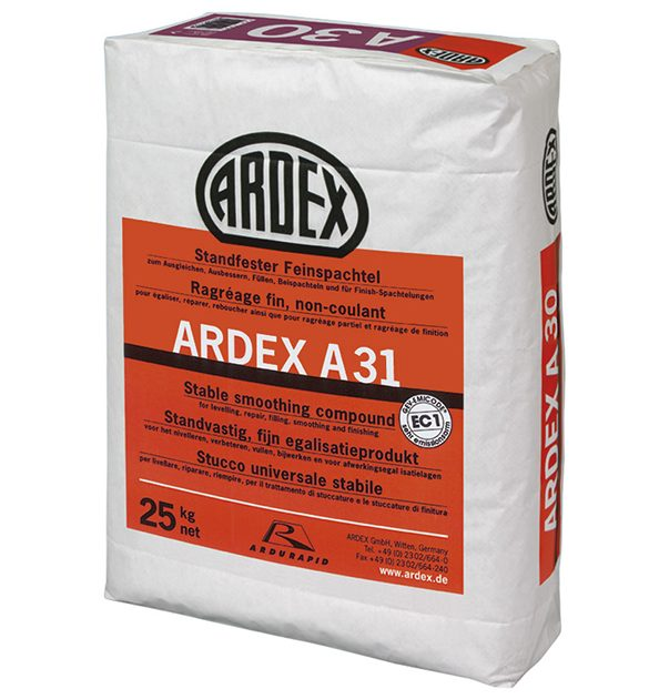 Ātri žūstoša smalkā špaktele ARDEX A31