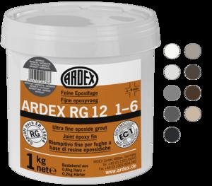 Smalkais epoksīda šuvotājs ARDEX RG12 1-6