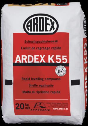 Ļoti ātri žūstošs pašnivelējošais grīdām ARDEX K55
