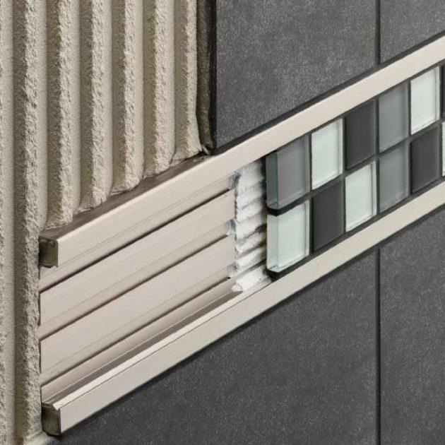 Dekoratīvs flīžu profils sienām Schlüter-QUADEC-FS