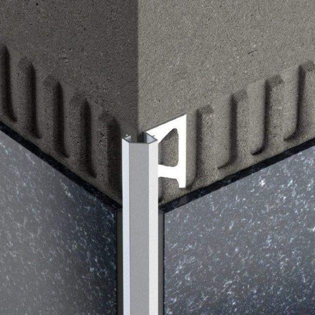 Alumīnija flīžu profils sienām DIADEC