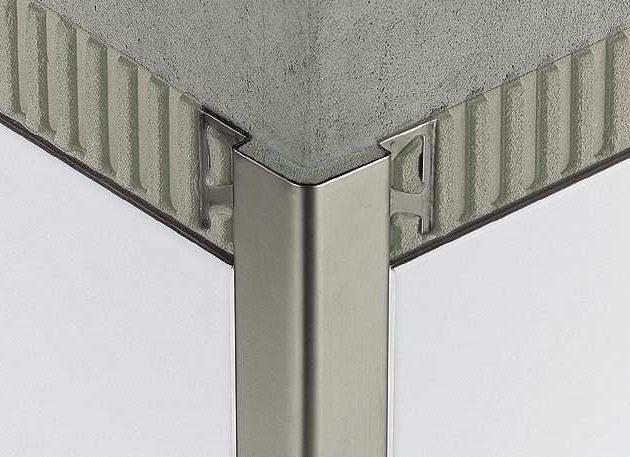 Profils ārējiem sienu stūriem ECK-E ir nerūsējošā tērauda stūra profils