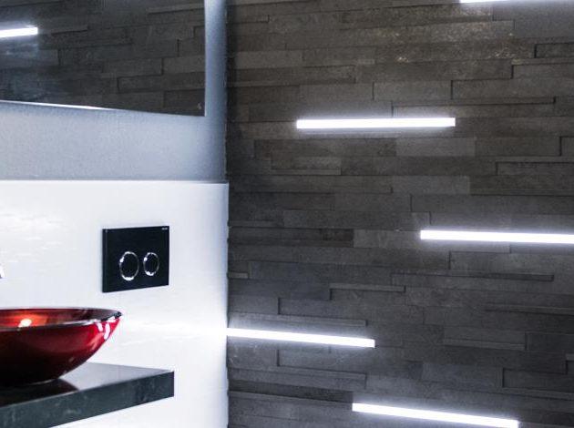 LED profils ar diožu joslu LIPROTEC-LLPM pilnībā apvalkotas LED caurules ar viendabīgu gaismas izkliedi un alumīnija vai nerūsējošā tērauda montāžas profilu