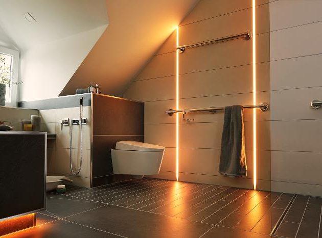 LED profils ar diožu joslu LIPROTEC-LLP pilnībā apvalkotas LED caurules ar viendabīgu gaismas izkliedi un U-veida nesošo profilu.