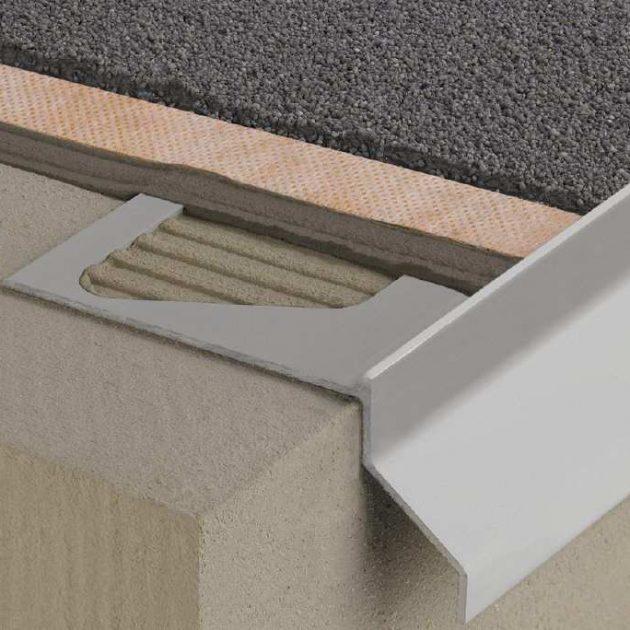 Profils balkoniem un terasēm BARA-RKB ir krāsota alumīnija T-veida noslēdzošais malas profils montējams tieši pirms plānu segumu uzklāšanas.