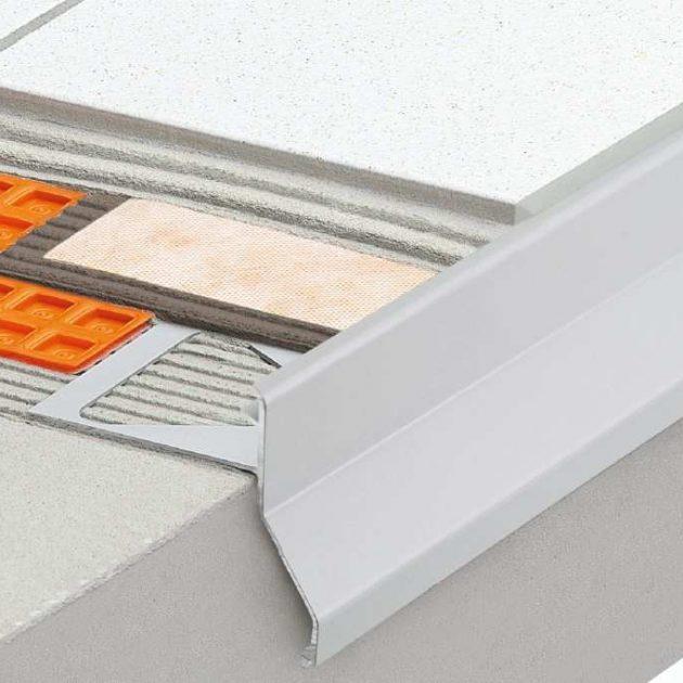 Profils balkoniem un terasēm BARA-RKK/-RKKE nodrošina tīrās malas blīvējumu un aizsargā brīvajām malām no atmosfēras iedarbības un sadalīšanās.