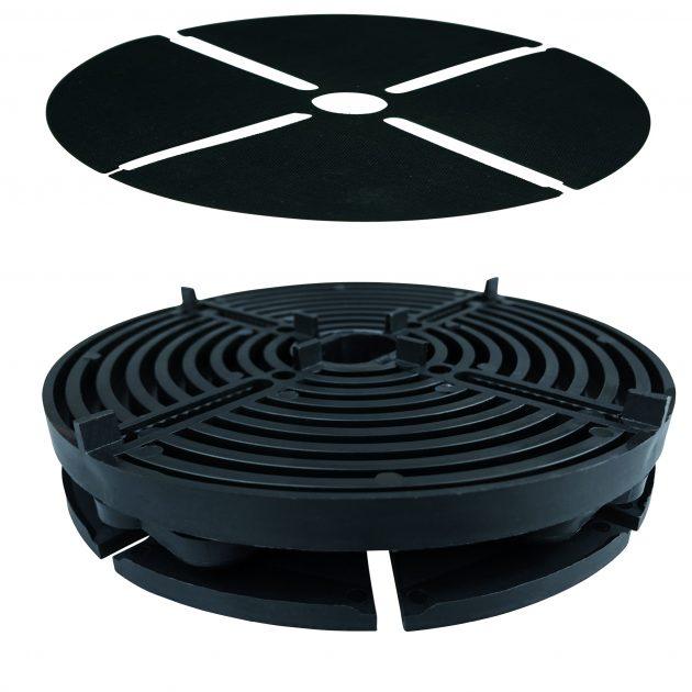 Plākšņu balsti TerraMaxx PL / PL-H balsti bez javas plākšņu montāžai. Pateicoties elastīgai pamatnei labi izlīdzina pamatnes nelīdzenumus