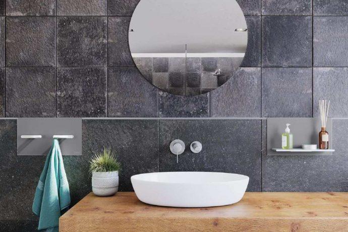 Flīžu profils sienām Schluter-ARCLINE-APW ir horizontāls dekoratīvs sienas profil